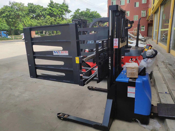 Customized 24V AC Electric Stacker Truck 1600~4000mm Lifting Height
