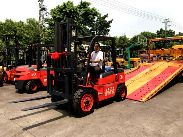 3-6 Meters Lifting Internal Combustion Forklift For Paper Roll Handling