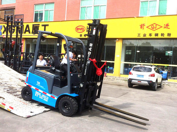 Electric Counterbalance Battery Powered Forklift With 4.5 M Lifting High